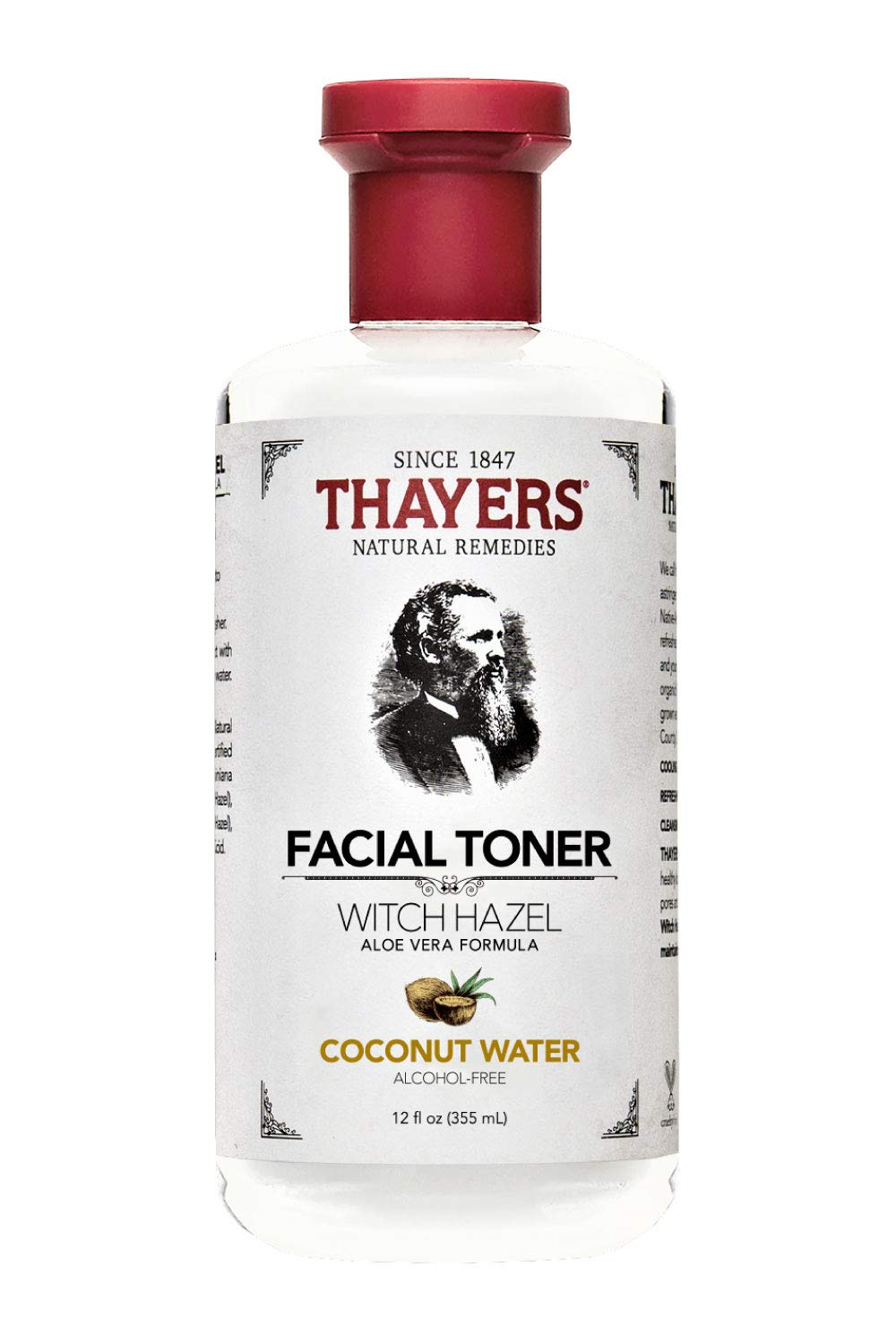 Thayers, Toner Witch Hazel Coconut Water Aloe Vera Alcohol Free, 12 Fl Oz by THAYERS