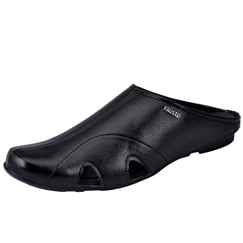 782b5ca2b9f9 FAUSTO Men s Slip-on Outdoor Slippers  Buy Online at Low Prices in ...