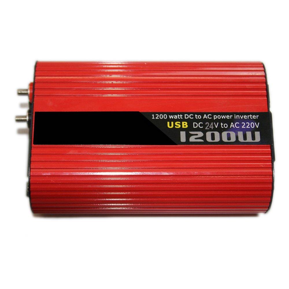 Inversor del coche 1200W 24v a 220v 50Hz inversor auto encendedor de cigarrillos convertidor de energía del convertidor