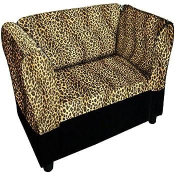 Amazon.com: ore international leopardo de impresión sofá ...