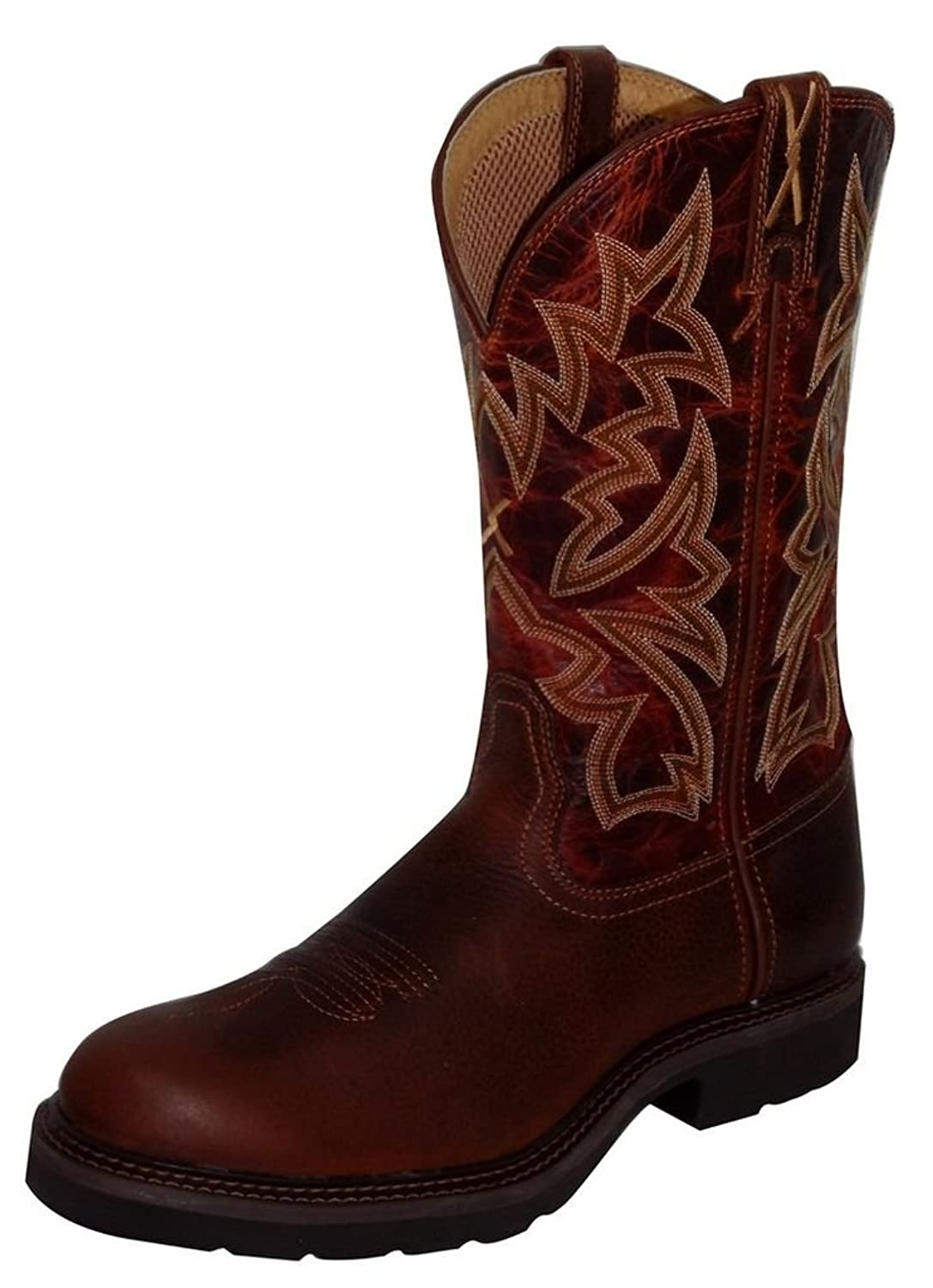 Twisted X Men's Western Pull-On Work Boot Round Toe - Mcw0008