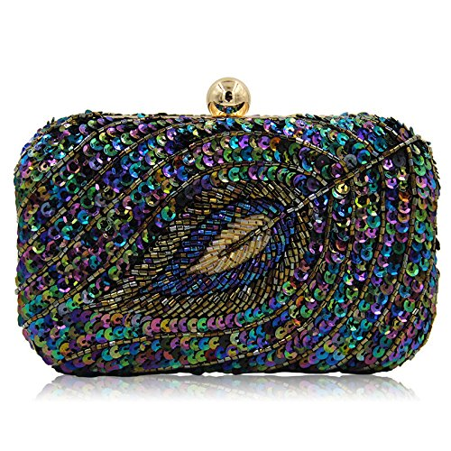 WenL Shoulder Sequined Bag Ladies Evening Handheld Black Bag FZHLY rOqrpT