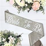 Glitter Bachelorette Sash - Glitter Bridal Sash - Champagne Glitter