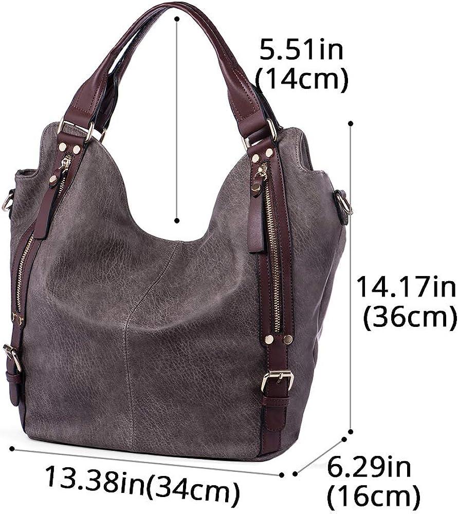 Women/'s Tote Handbag PU Leather Shoulder Bag Large Purse Casual Shopping Satchel