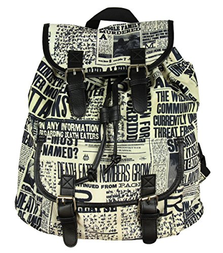 Harry Potter Daily Profit Newspaper Print Slouch Backpack -