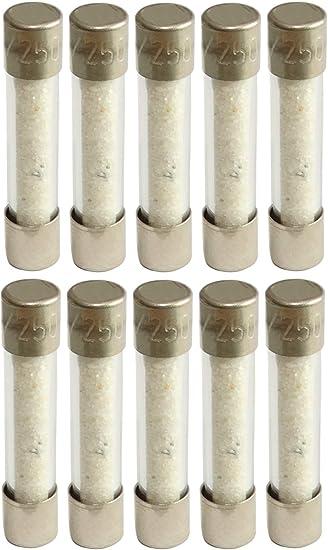AERZETIX 10 x Sicherung halb-verz/ögert aus Glas 2,5 cm 3,15 A 3150 mA 250 VAC 5 x 25 mm C42325