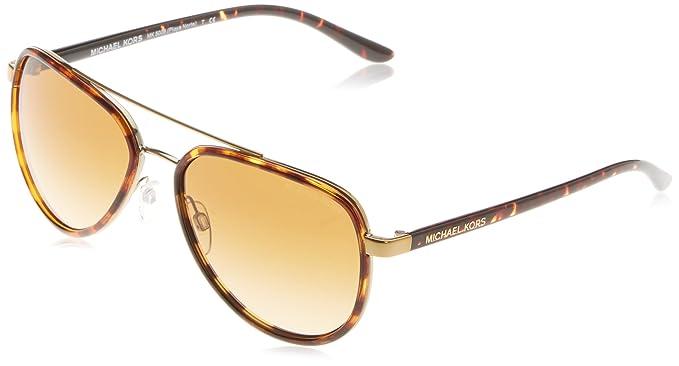 MICHAEL KORS Michael Kors Damen Sonnenbrille »PLAYA NORTE MK5006«, braun, 10357V - braun/rosa