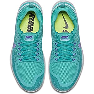 Nike Women's Free RN Distance 2 Running Shoe LIGHT AQUA/HYPER GRAPE-CLEAR JADE 8.5