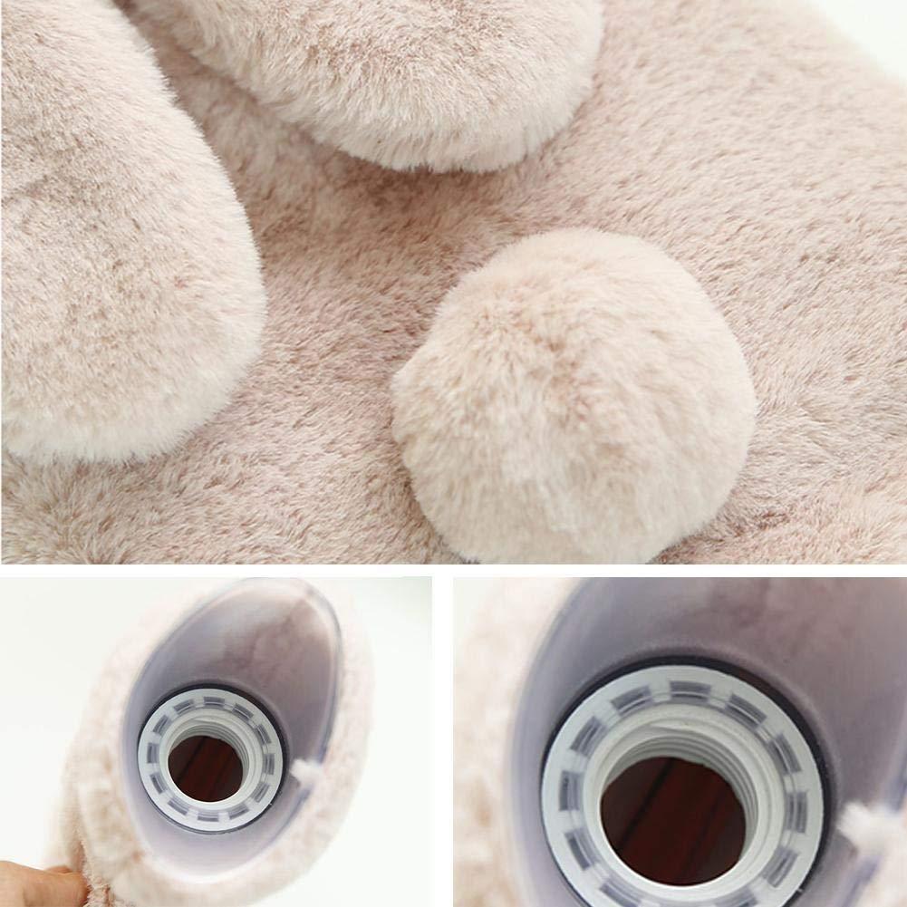 Set ZHAOLV Oreille de Lapin Injection deau Mince Bouteille deau Chaude Hiver Chaud PVC Anti-Chaud en Peluche en Cachemire Leakproof Chaud /à la Main 1PC Color : Dark Grey