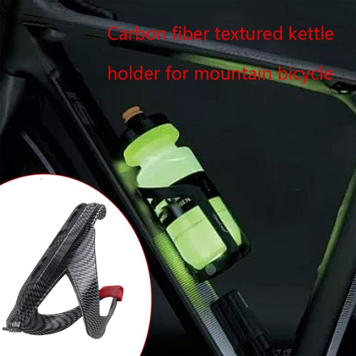 Kongqiabona-UK Portaborraccia Multifunzione Mountain Bike Portaborraccia in Fibra di Carbonio con Struttura in Fibra di Carbonio Portaborraccia in plastica