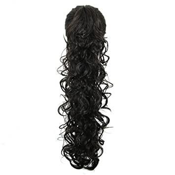 Stylish Short Curly Ponytail Extension Long Claw Clip In Layered Hair Piece Kp42