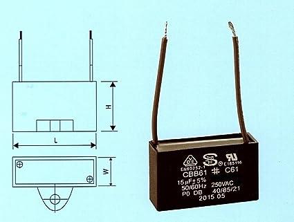 Amazon Cbb61 C61 Fan Motor Capacitor 15uf 250vac 2 Wire. Cbb61 C61 Fan Motor Capacitor 15uf 250vac 2 Wire. Wiring. C61 Capacitor Wire Diagram At Scoala.co