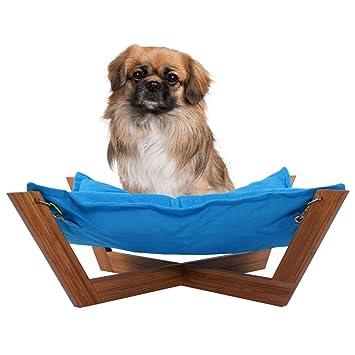 giantex pet hammock bed dog nap mat cat sleeping pad cushion bamboo lounge small  blue amazon     giantex pet hammock bed dog nap mat cat sleeping pad      rh   amazon