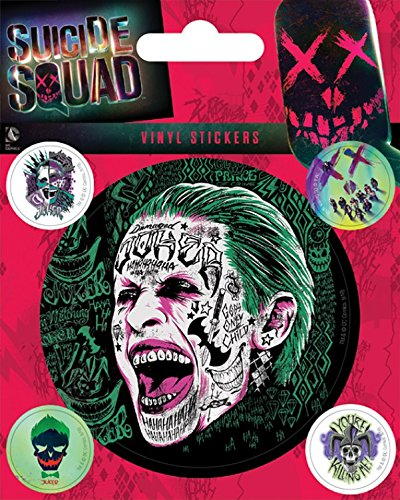 1art1 Suicide Squad Sticker Adhesive Decal - The Joker (5 x 4 inches)