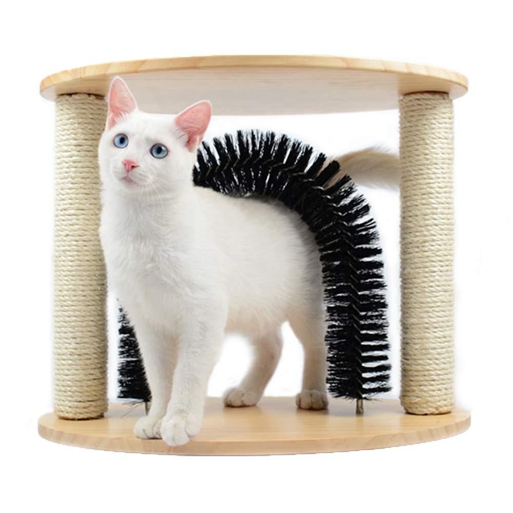 Meng Pet Cat Arch Self-Cosmetic Massager - Cat Scratch Board Scratch Scratch Placard Pet Brush Self-modifying and Massage Cat Toy
