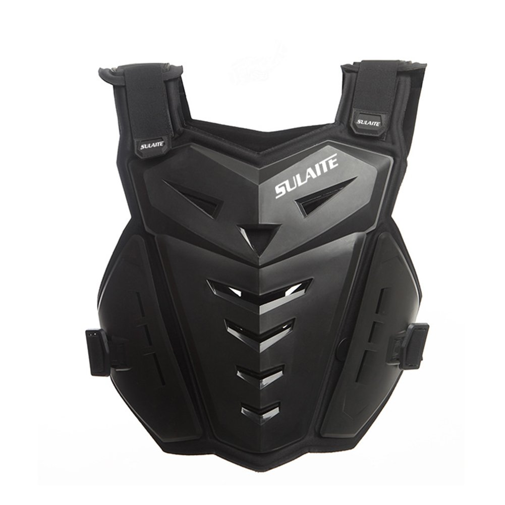BARHAR Motorcycle Armor Vest Motorcycle Riding Chest Armor Back Protector Armor Motocross Off-Road Racing Vest (Black)