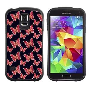 DesignCase Premium TPU / ABS Hybrid Back Case Cover Samsung Galaxy S5 V SM-G900 ( pretty butterflies )