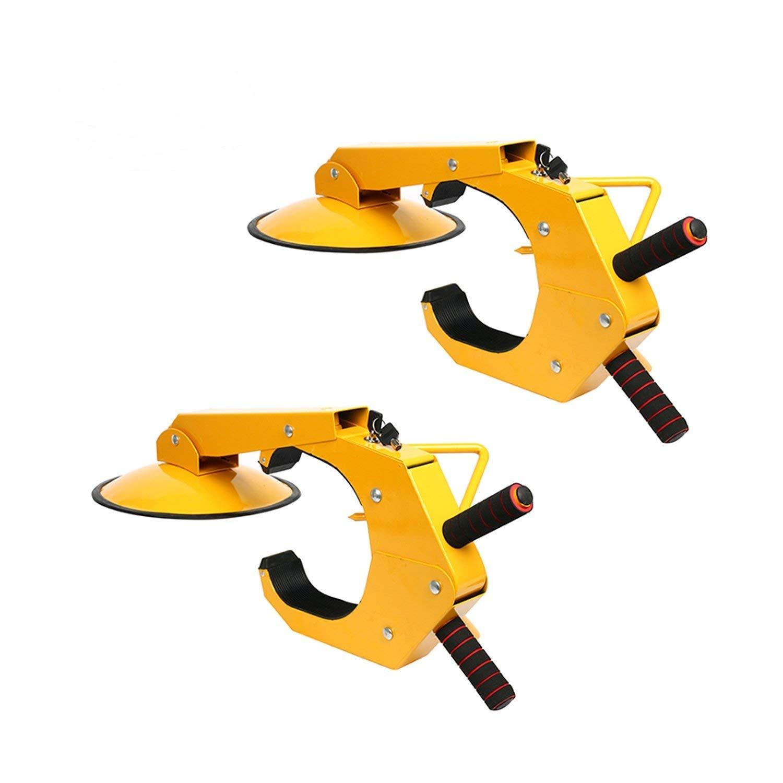 YaeTek 2pcs Wheel Lock Clamp Adjustable Tire Boot Lock Anti-theft Lock Clamp Boot Tire Claw for Parking Car Truck RV Boat Trailer - 2 PACK by YAETEK