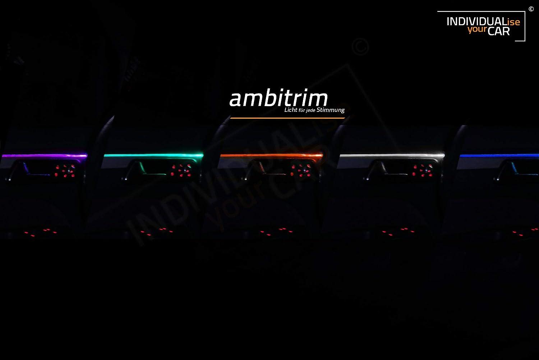 ambitrim/® Ambiente Lichtleiste Ambientebeleuchtung f/ür 2 T/üren Wei/ß