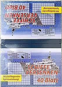 na-und 2000Bloquede juego Hundir la flota, 2x 40 hojas, A6
