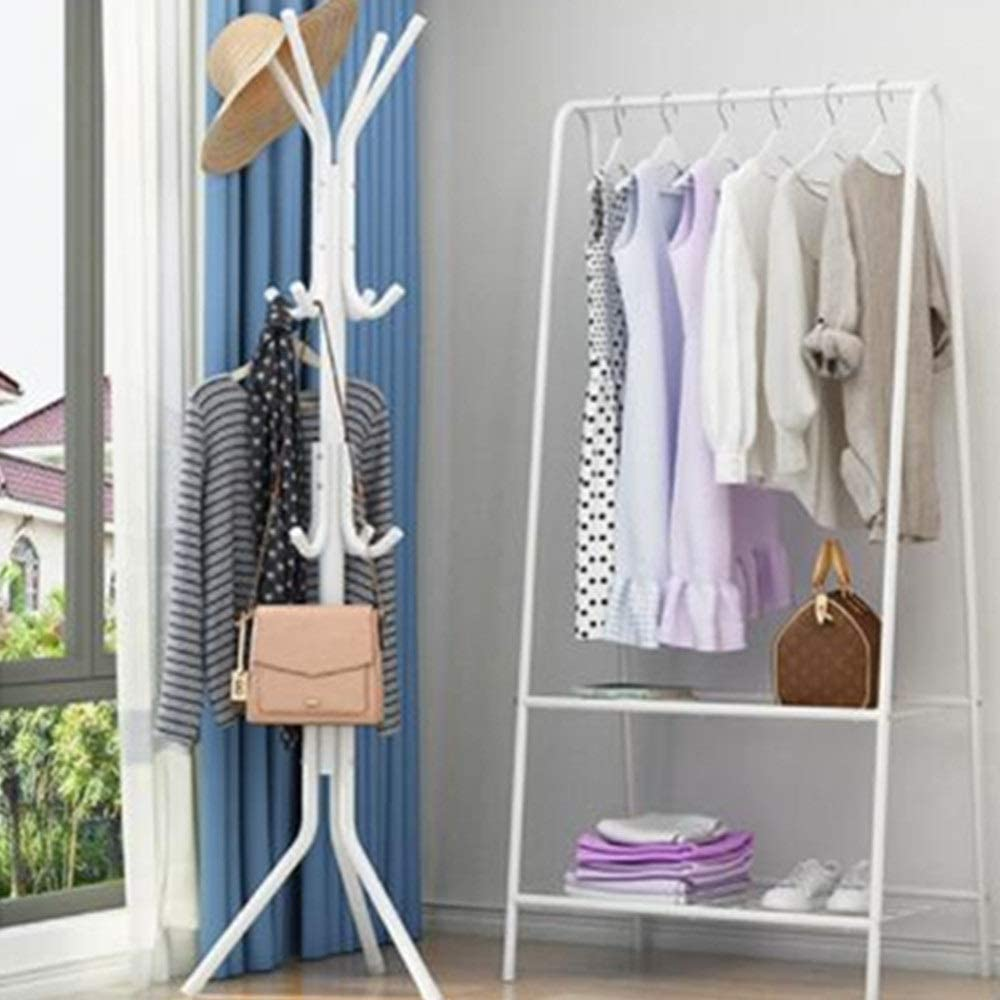 2 x 10 Crochet multi couleur sur la porte vêtements manteau rack chrome cintres