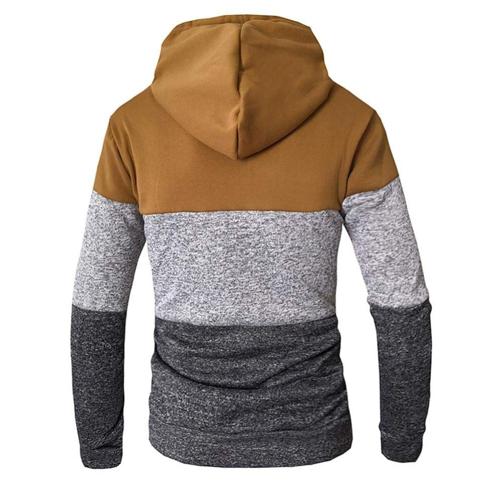 Jackets for Men Mens Autumn Winter Casual Long Sleeve Slim Pocket Fit Hoodies Blouse Top