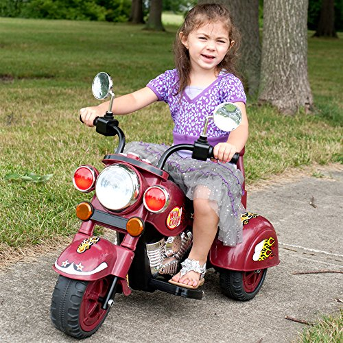 Deluxe Battery Operated Three Wheeled Motorcycle - Great for Toddlers!