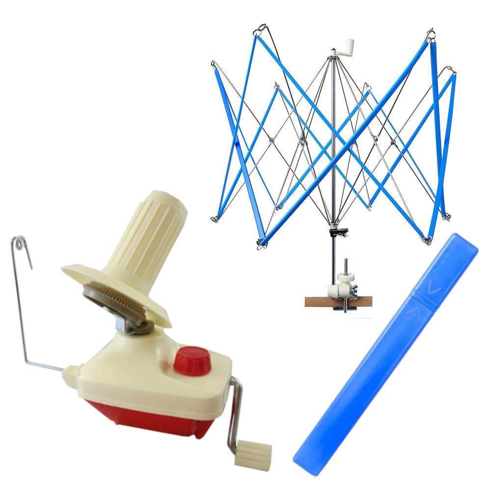 Jumbo Ball Yarn Winder and Yarn Umbrella Swift Combo Set Olikraft