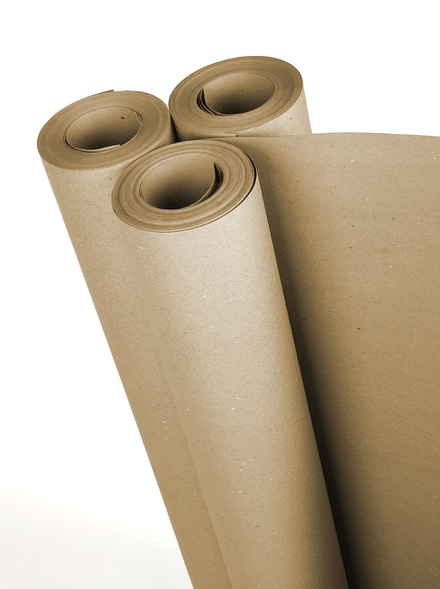 Plasticover PCHP360150 Heavy Duty Rosin Paper, 36'' x 150' (450 sq. ft.), Brown
