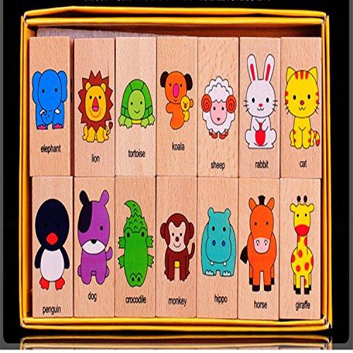 Animal Set Domino Multicolor Educatinal Toys Child Birthday Gift For Children Boy Girl Games Kids