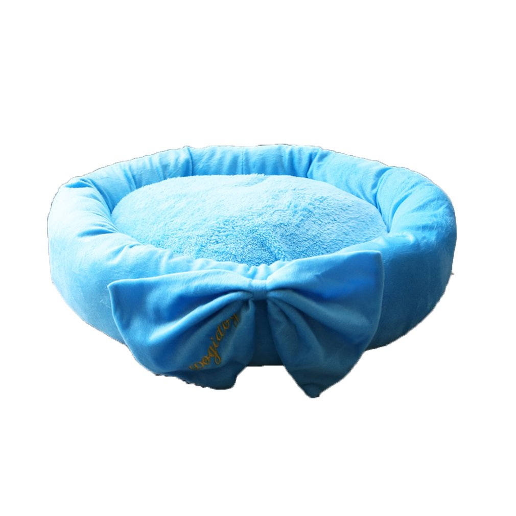 blueE L blueE L Pet Pad Dog Kennel Supplies Cat Litter Kennel Teddy Pet Wo Wo Xiong Bomei Small Dog Litter Mat Bed Autumn And Winter Seasons (color   blueE, Size   L)