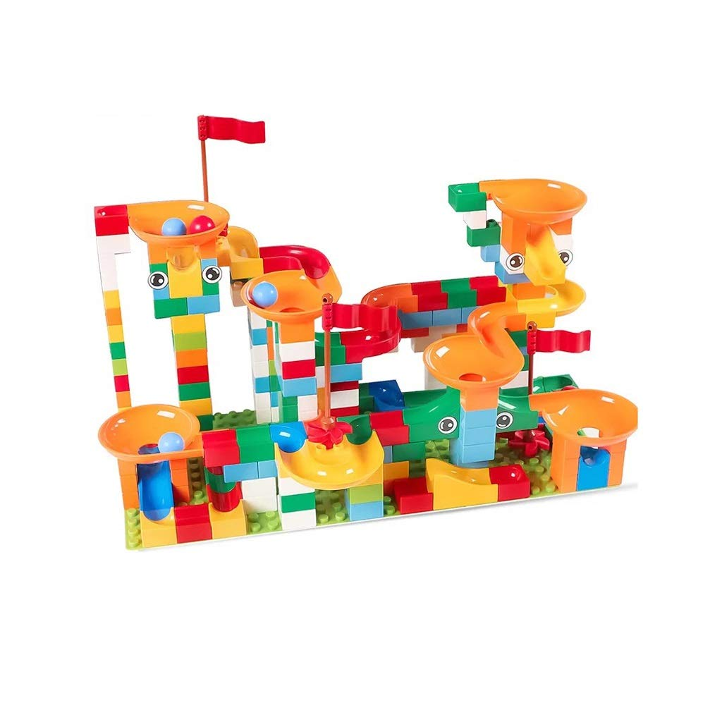 LIUFS-TOY Children's Toy Building Blocks Track Assembly Slide Early Educational Large Particles 3-8 Years Old Gift (Size : 222 pieces)