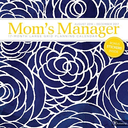 Moms Manager Floral 17 Month 2017 Calendar
