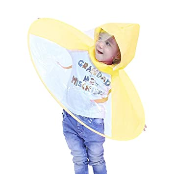 63f58a07d Winkey Kids Raincoat, Novelty Foldable UFO Raincoat Children ...