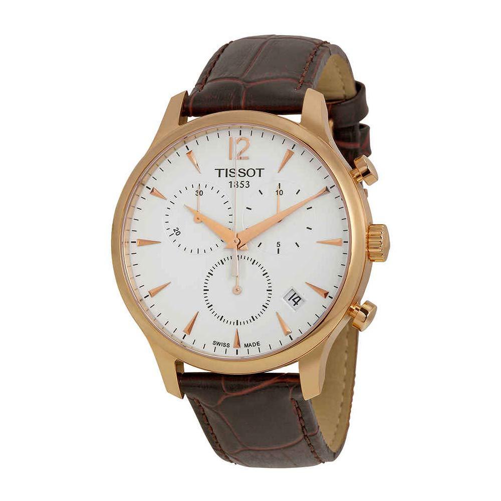 025d510400a Amazon.com: Tissot Men's T0636173603700 Tradition Analog Display Swiss  Quartz Brown Watch: Tissot: Watches