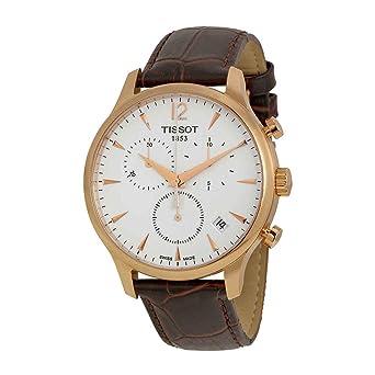c6415b36b Amazon.com: Tissot Men's T0636173603700 Tradition Analog Display Swiss  Quartz Brown Watch: Tissot: Watches