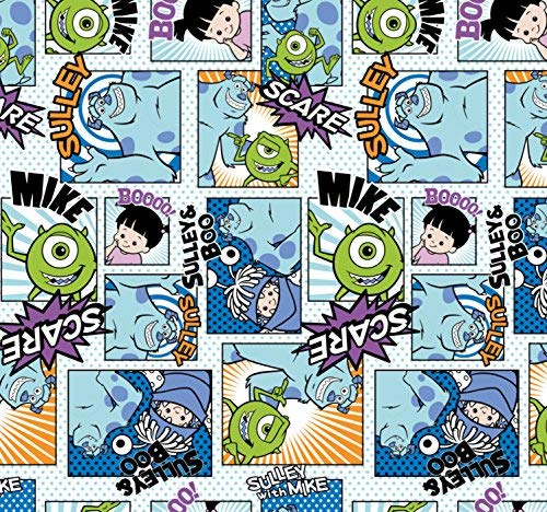 FLANNEL Disney Monsters Inc Sully Mike Fabric From Camelot By the Yard