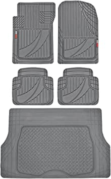 10 + UNIVERSAL CARPET CAR FLOOR MATS WHITE TRIM SET OF 4 AUDI A1