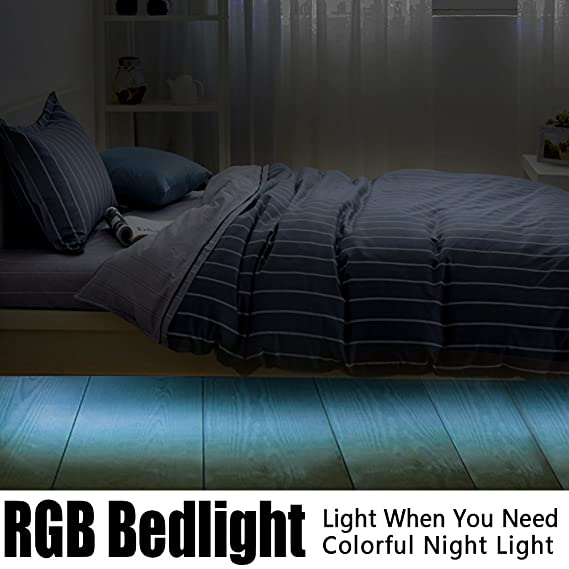 Iwonderful Motion Aktiviert Colorful Licht Bett Set Flexible Rgb