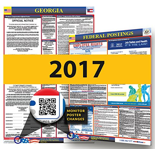 Osha Workplace Poster (2017 Georgia State & Federal Labor Law Posters for Workplace)
