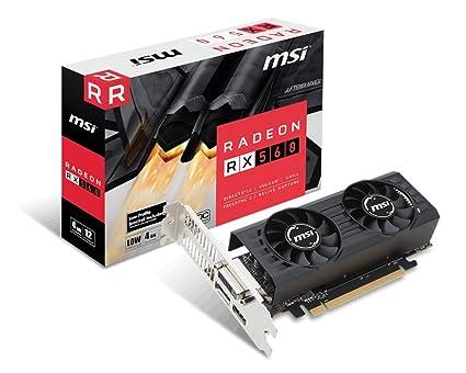 MSI R5604TPC RX 560 4GT LP OC Graphic Cards