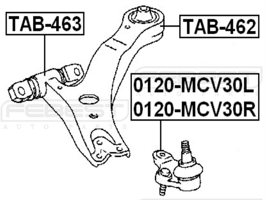 FEBEST TAB-463 Front Control Arm Bushing