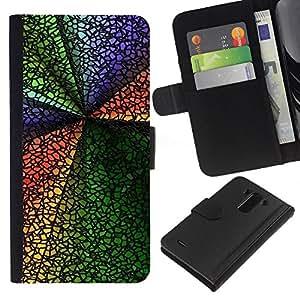 Ihec-Tech / Flip PU Cuero Cover Case para LG Optimus G3 - Abstract Colors