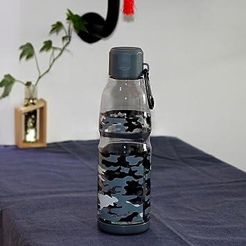 QINGZ Vasos De Plástico Camuflaje Creativo A Prueba De Fugas Y A Prueba De Caída Portátil Deportes