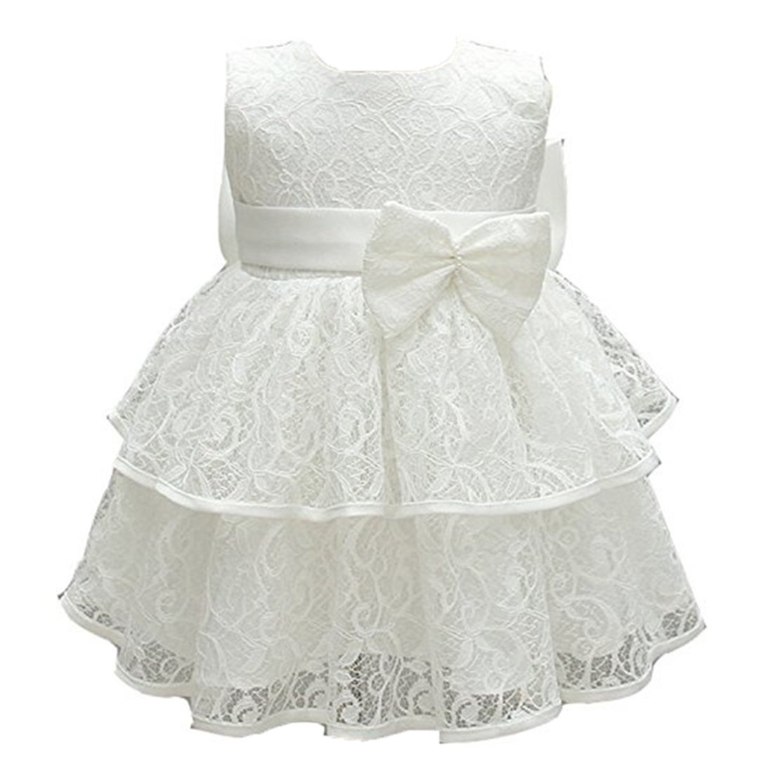 ADHS Infant Newborn Kids Baby Girl Flower Prom Wedding Gown Princess Dress