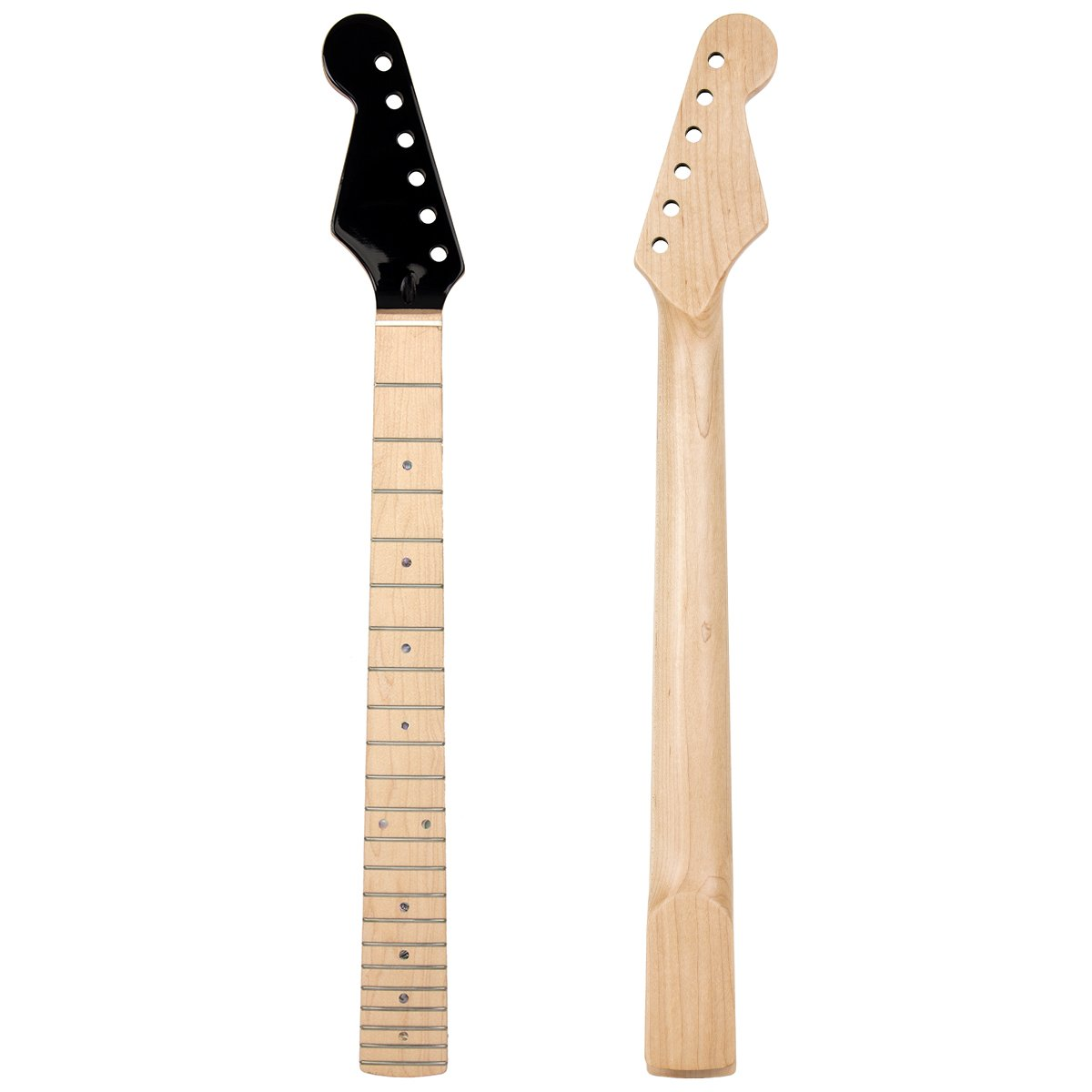 Lefty Handed 22 Fret Electric Guitar Neck for ST Guitar Parts Replacement Maple