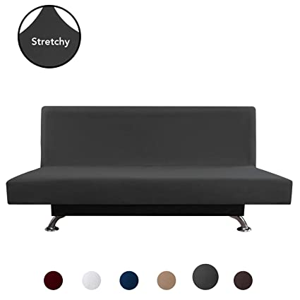 Fantastic Purefit Super Stretch Armless Chair Sofa Slipcover Spandex Anti Slip Soft Couch Sofa Cover Washable Furniture Protector With Elastic Bottom For Spiritservingveterans Wood Chair Design Ideas Spiritservingveteransorg