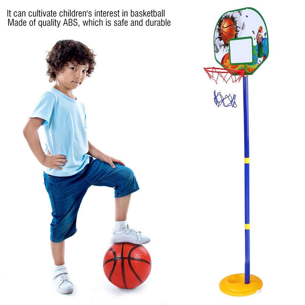 Drfeify Children Basketball Set,Childrens Kids Free Standing Basketball Net Hoop Set with Ball