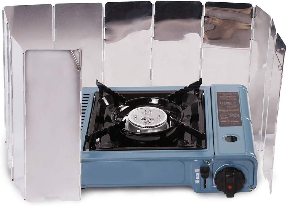 DMBHW 10 Placas arabrisas Plegable para Camping Cocina Estufa ...