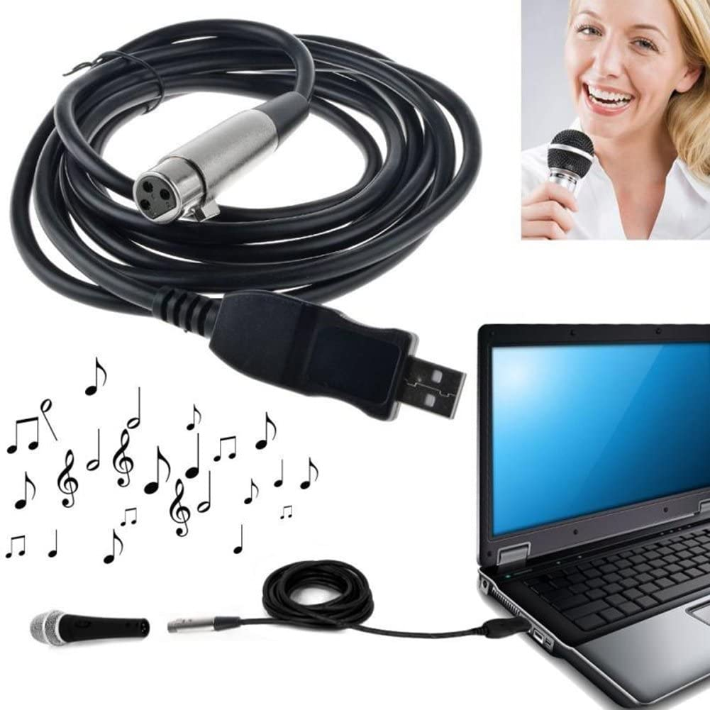 Katigan USB Male to XLR Female Microphone USB MIC Link Cable New